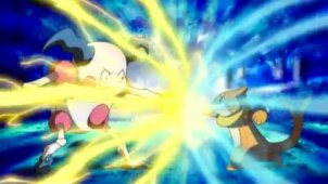 Growling Ice Punch! Buizel VS Mr. Mime!!