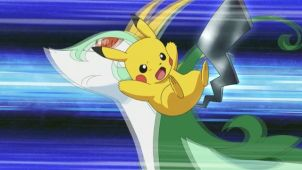 The Unova League Higaki Tournament Begins!  Ash VS Trip!!