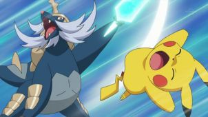 Ash VS Kotetsu! The Hydreigon Secret Weapon!!