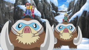 Cross the Snow Mountains! Mamoswine and Abomasnow!!