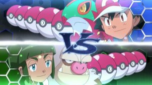 Semifinal Full Battle! Ash VS Sawyer!!