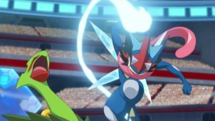 Fierce Rival Battle! Ash-Greninja VS Mega Sceptile !!