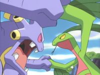 Critical Situation! Exploud VS. Grovyle!
