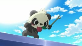pancham sticks out tongue