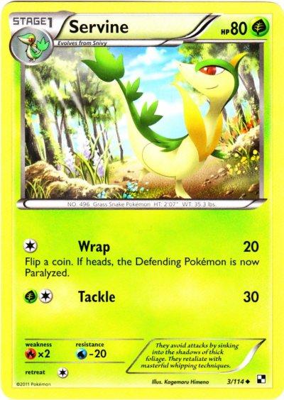 Serebii.net TCG Black White - #3 ServineServine Pokemon Card