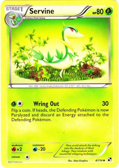 Serebii.net TCG Black White - #4 ServineServine Pokemon Card
