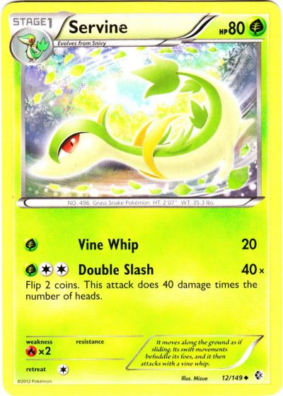 Serebii.net TCG Boundaries Crossed - #12 ServineServine Pokemon Card