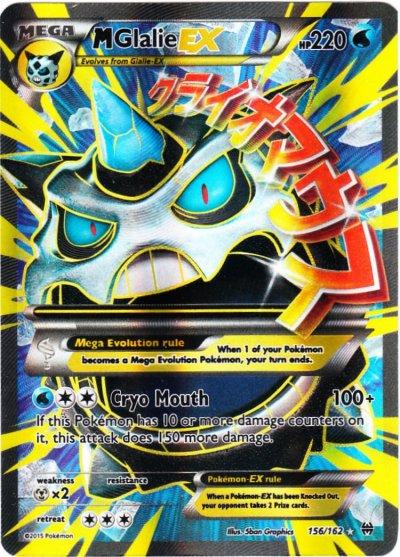 Tcg breakthrough 156 m glalie ex - Pokemon mega evolution ex ...