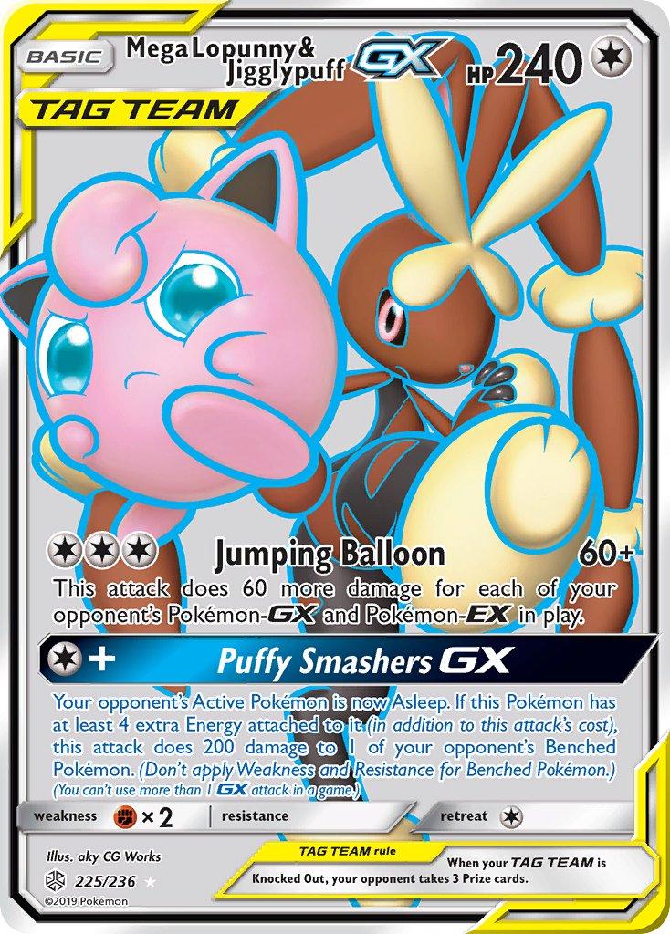 Near Mnt Ultra Rare Mega Lopunny /& Jigglypuff GX 226//236 Full Art Pokemon Card