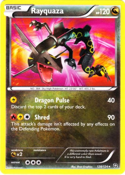Serebii.net TCG Dragons Exalted - #128 Rayquaza