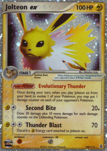 Serebii.net TCG EX Delta Species - #109 Jolteon ex