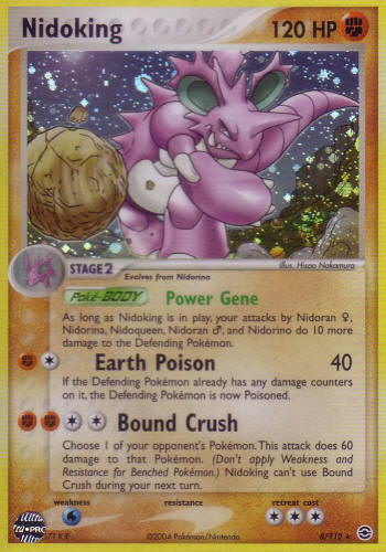 Serebii.net TCG EX FireRed and Leaf Green - #8 Nidoking