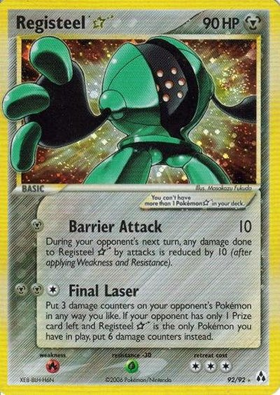 Registeel Pokemon Card Serebii.net TCG EX Leg...