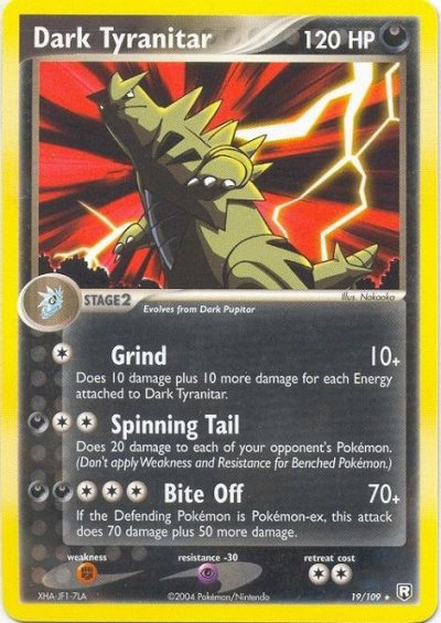 Serebii.net TCG EX Team Rocket Returns - #19 Dark Tyranitar