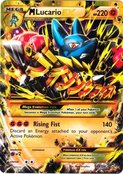 Mega Lucario Pokemon Card Quotes