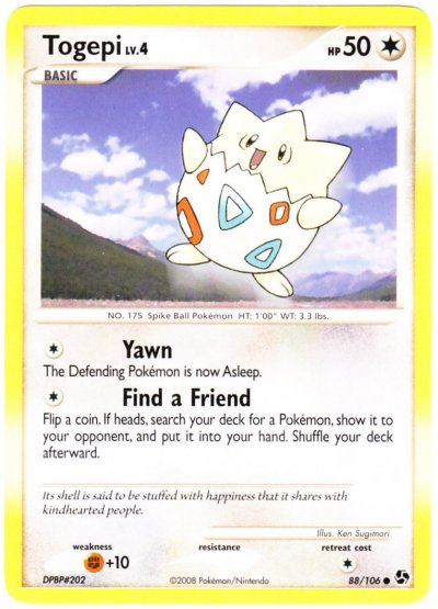 serebiinet tcg great encounters 88 togepi