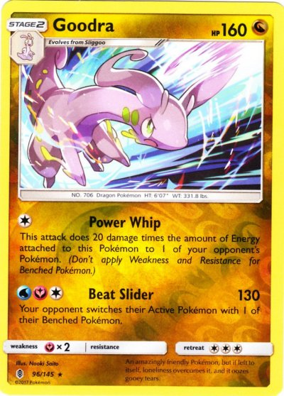 Serebii.net TCG Guardians Rising - #96 Goodra