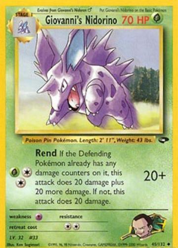 Nidorino Pokemon Card Images   Pokemon Images