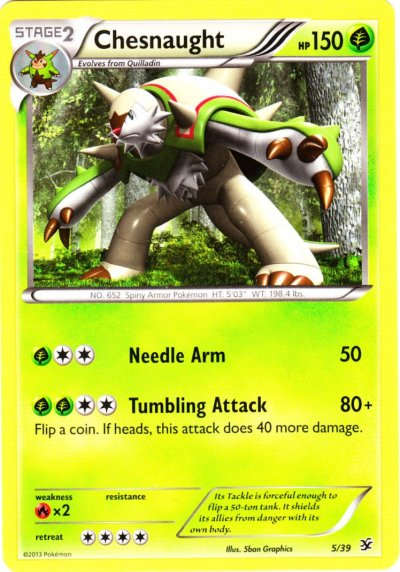 Chesnaught Pokemon Card Images | Pokemon Images
