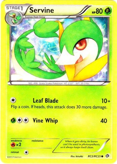 Serebii.net TCG Legendary Treasures - #2 ServineServine Pokemon Card