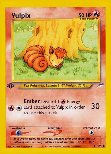 vulpix 50 hp ember discard 1 energy card attached to vulpix in order ...