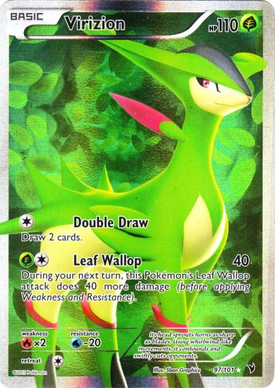 Serebii.net TCG Noble Victories - #97 Virizion