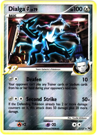 Dialga Holo Rare Pokemon Card Pt1 Platinum 6//127