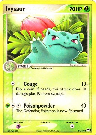 Pokemon Ivysaur Card