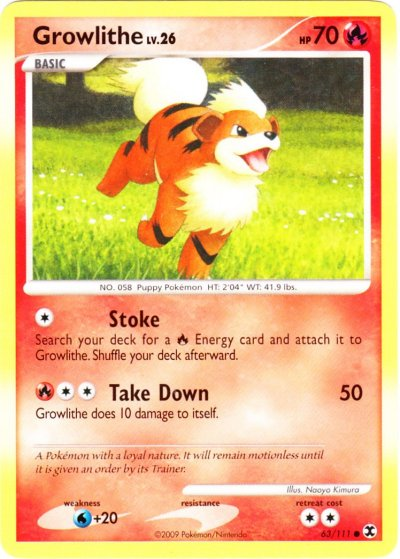 Growlithe Pokemon Card Serebii.net TCG...
