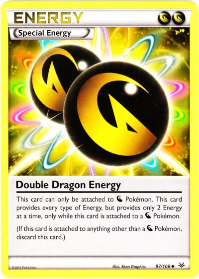 Tcg roaring skies 97 double dragon energy - Carte pokemon dragon ...