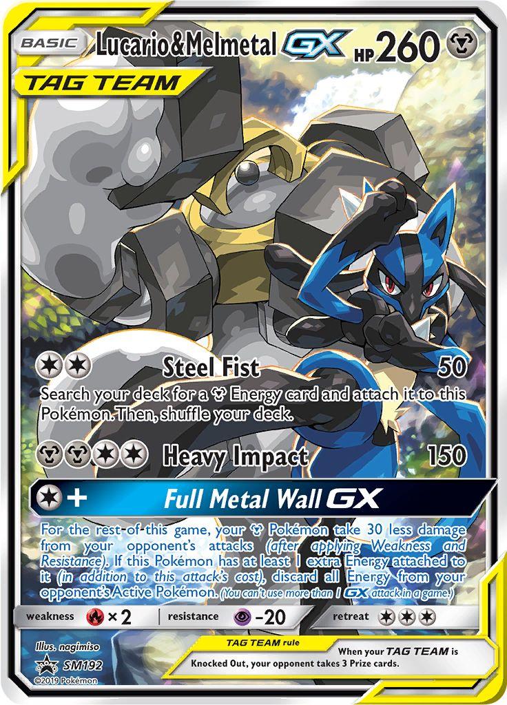 The Energy Detective >> Serebii.net TCG SM Promos - #192 Lucario & Melmetal Tag GX