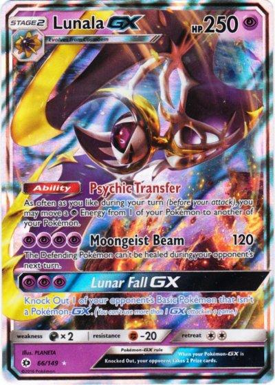 Kleurplaten Pokemon Ex.Serebii Net Tcg Sun Moon 66 Lunala Gx