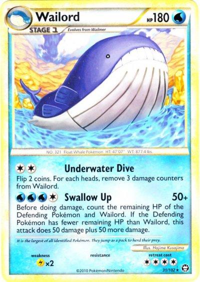 Serebii.net TCG Triumphant - #31 Wailord Wailord Pokemon Card