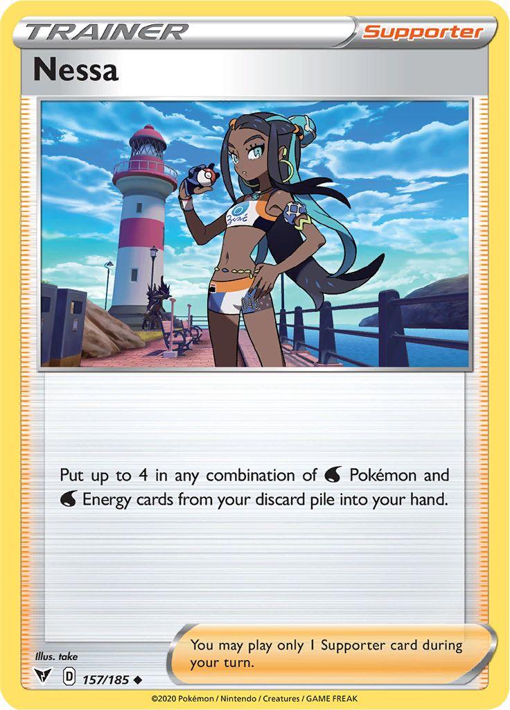 Serebii.net Pokémon Card Database - Vivid Voltage - #157 Nessa