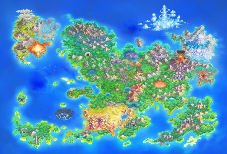 ultimate dx world map Pokemon Mystery Dungeon Rescue Team Dx Dungeon Listings