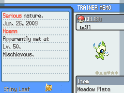 how to get shiny starter pokemon in heart gold