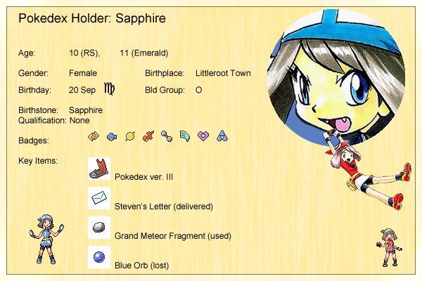 Sapphire's Profile