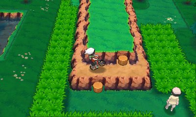 Bike Tricks Omega Ruby If you hold the B Button while