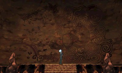 A cave painting in Alpha Sapphire