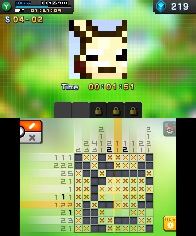 Pok mon picross pre release screenshots for Mural 01 pokemon picross