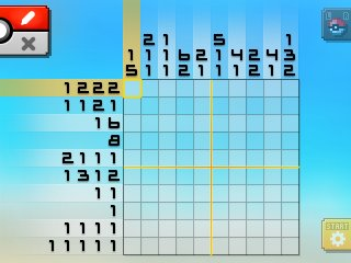 Pok mon picross location listings area 17 for Picross mural 1