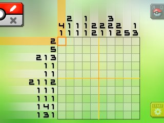 Pok mon picross location listings area 18 for Picross mural 1