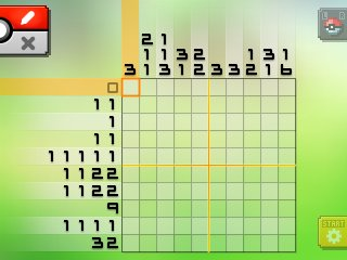 Pok mon picross location listings area 04 for Picross mural 1