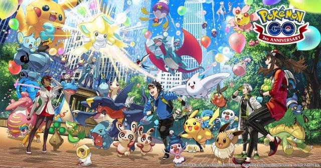 Third Anniversary Event - Pokémon GO - Serebii net