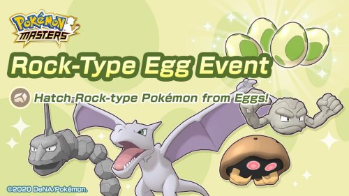 Pokémon Masters - Rock-type Egg Event