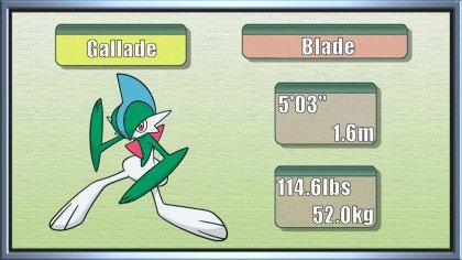 Blade Pokemon x Gallade The Blade Pokémon