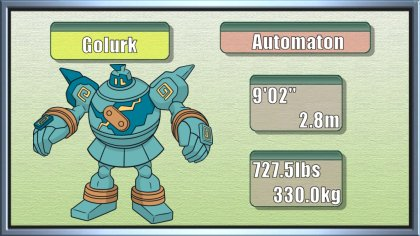 pokémon of the week golurk