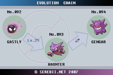 Pok mon of the week gengar - Evolution pokemon argent ...