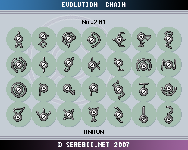 Pok mon of the week unown - Pokemon perle evolution ...