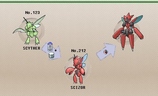 Pokemon scyther evolution chart